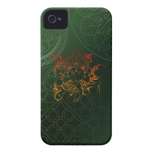 Ganesh Elephant Mandala orange green Yoga Asia Case-Mate iPhone 4 Cases