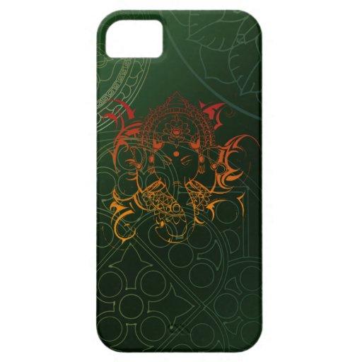 Ganesh Elephant Mandala orange green Yoga Asia Case For iPhone 5/5S