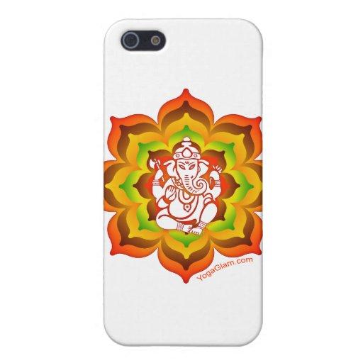 Ganesh en Lotus iPhone 5 Carcasa