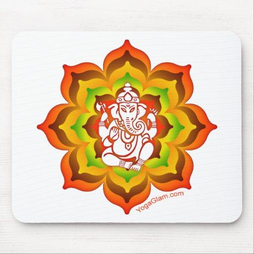 Ganesh en Lotus Tapetes De Raton