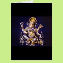 Ganesh Ganesha Hindu India Asian Elephant Deity Card