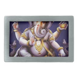 Ganesh Ganesha Hindu India Asian Elephant Deity Rectangular Belt Buckle