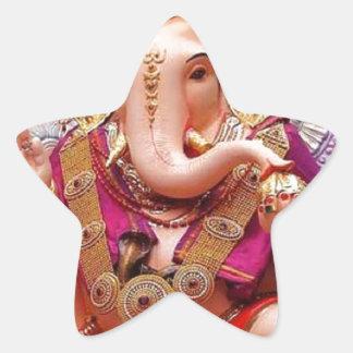 Ganesh Ganesha Hindu India Asian Elephant Deity Star Sticker