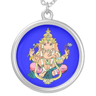 Ganesh [Ganesha] Sterling Silver Pendant Necklace