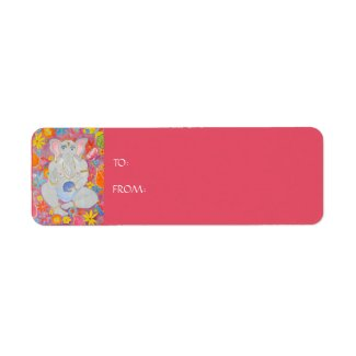 Ganesh Gift Sticker Label pink label