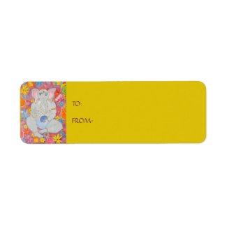 Ganesh Gift Sticker Label yellow label
