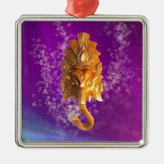 Ganesh Golden Head Metal Ornament