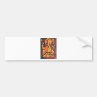 GANESH HINDU GOD ABSTRACT ART BUMPER STICKER