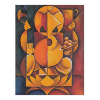 GANESH HINDU GOD ABSTRACT ART POSTCARD