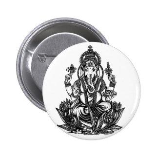 Ganesh Illustration Button