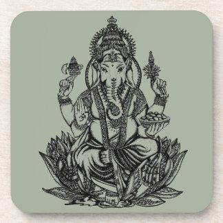 Ganesh Illustration Drink Coaster