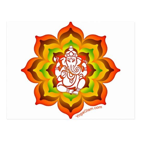 Ganesh in Lotus Postcard
