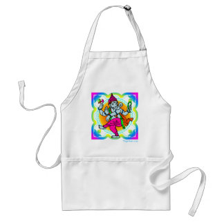 Ganesh in Rainbow colorful design Adult Apron