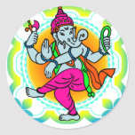 Ganesh in Rainbow colorful design Classic Round Sticker