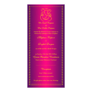Ganesh | Indian God Pink Wedding Rack Cards