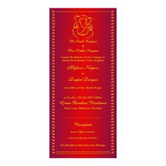 Ganesh | Indian God Red Wedding Rack Cards
