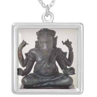 Ganesh, late 12th-early 13th century, Angkor Silver Plated Necklace