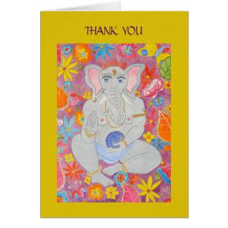 Ganesh le agradece cardar amarillo tarjeton
