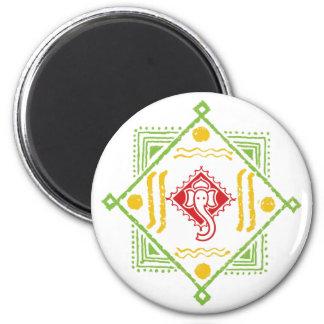 Ganesh Mandana 2 Inch Round Magnet