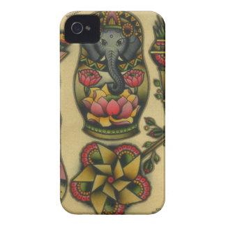 ganesh matyroshka pinwheel Case-Mate iPhone 4 cases