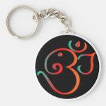 Ganesh Om Basic Round Button Keychain