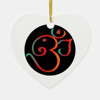 Ganesh Om Ceramic Ornament