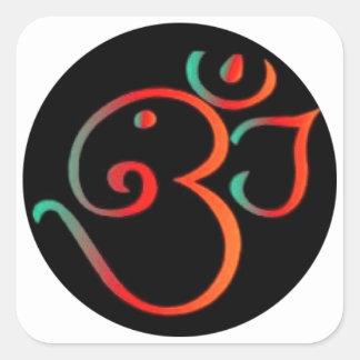Ganesh OM Calcomanía Cuadradas Personalizada