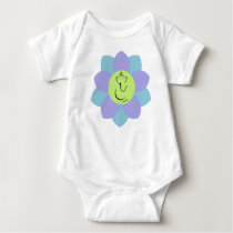Ganesh on a Flower pattern Baby Bodysuit