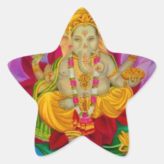 Ganesh Pegatina En Forma De Estrella