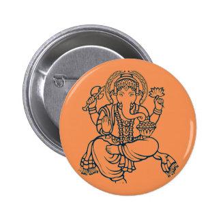 Ganesh Pin Redondo De 2 Pulgadas