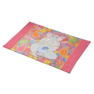 Ganesh Placemat pink placemat