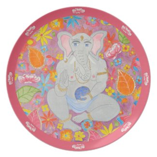 Ganesh Plate pink plate