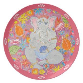 Ganesh Plate pink plate