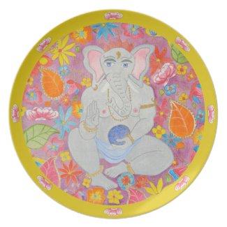 Ganesh Plate yellow plate