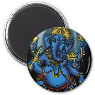 Ganesh Prosperity 2 Inch Round Magnet