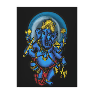 Ganesh Prosperity Stretched Canvas Print