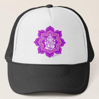 Ganesh purple design trucker hat