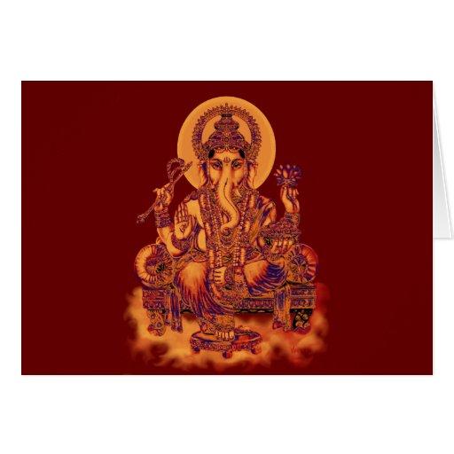 Ganesh - removedor de la tarjeta de felicitación d