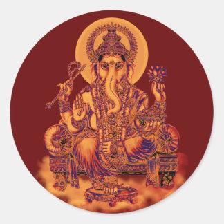 Ganesh - removedor de obstáculos pegatinas redondas