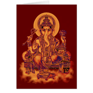 Ganesh - removedor de obstáculos tarjeta de felicitación