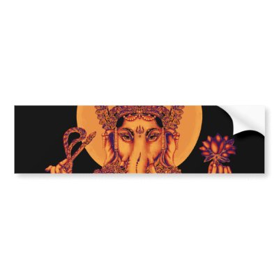Ganesh - Remover of Obstacles bumper sticker $ 4.75