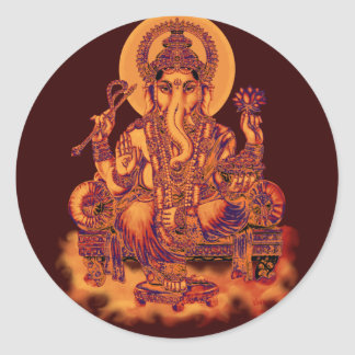 Ganesh - Remover of Obstacles Classic Round Sticker