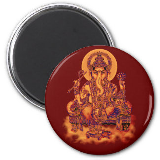 Ganesh - Remover of Obstacles 2 Inch Round Magnet