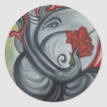 Ganesh's Oil Painting on Canvas Sticker