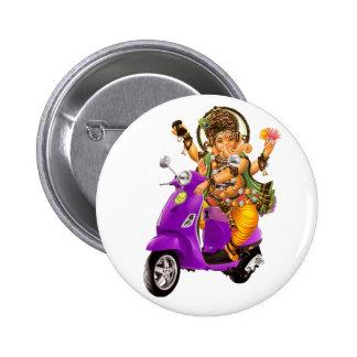 Ganesh Scooter 2 Inch Round Button