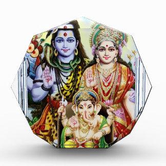 Ganesh, Shiva and Parvati, Lord Ganesha, Durga Acrylic Award