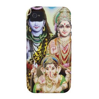 Ganesh, Shiva and Parvati, Lord Ganesha, Durga iPhone 4/4S Case