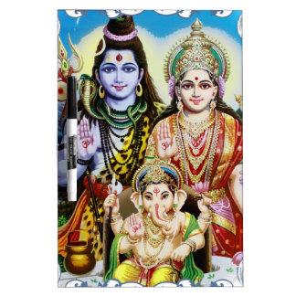 Ganesh, Shiva and Parvati, Lord Ganesha, Durga Dry-Erase Boards