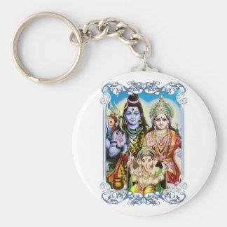 Ganesh, Shiva and Parvati, Lord Ganesha, Durga Keychain