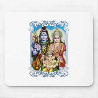 Ganesh, Shiva and Parvati, Lord Ganesha, Durga Mouse Pad